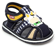 Cute Walk Baby Sandals with Cow Motif - Blue