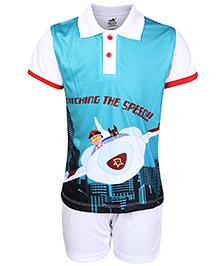 Mighty Raju Half Sleeves Collar Neck Printed T-Shirt And Shorts