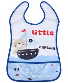 Mee Mee Baby Bib Little Captain Print - Blue