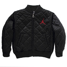 Jordan Full Sleeves AJ23 Diamond Quilt Jacket Black