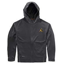 Jordan Super Fly 2 Full Sleeves Hooded Jacket with Kangaroo Pockets - Grey