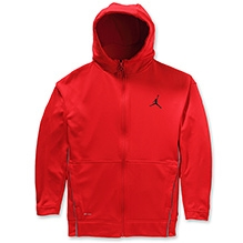 Jordan Full Sleeves High Neck Hooded Jacket - Red