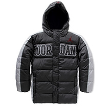 Jordan Outline Type Puffer Jacket Black And Grey