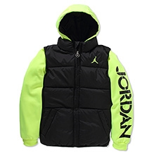 Jordan Classic Full Sleeves High Neck Hooded Jacket - Black