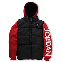 Jordan Full Sleeves Thermal Fit Hooded Jacket - Red and Black