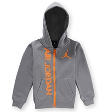 Jordan Full Sleeves Hooded Jacket - Grey