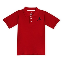 Jordan Half Sleeves Pique Polo T-Shirt - Red