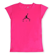 Jordan Short Sleeves Jumpman Air Graphic Tee Pink