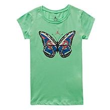 Jordan Short Sleeves Butterfly Printed Top