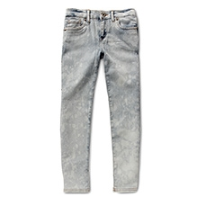 LEVIS Carli Cropped Denim Legging Pants Silver