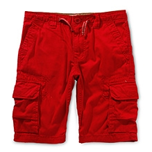 LEVIS Cargo Shorts with 6 Pockets - Red