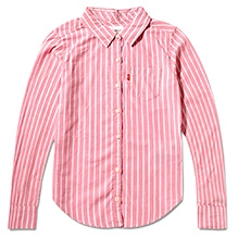 LEVIS Striped Yarn Dyed Plaid Shirt Pink