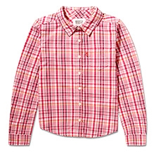 LEVIS Half Sleeves Shirt with Check Print - Pink