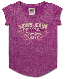 LEVIS Do The Bright Thing Knit Short Sleeves Top Purple