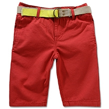 LEVIS Beach Comber Belted Flat Front Shorts Coral Red