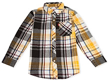 LEVIS Checkered Cunningham One Pocket Shirt - Golden