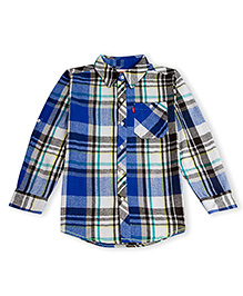 LEVIS Checkered Cunningham One Pocket Full Sleeves Shirt Blue