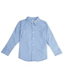 LEVIS Full Sleeves Checkered Shirt - Light Blue