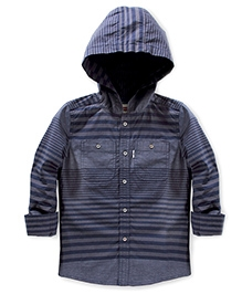 LEVIS Alvarado Hooded Woven Shirt - Navy Blue