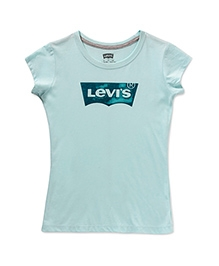 LEVIS Short Sleeves Batwing Screen Top - Light Blue