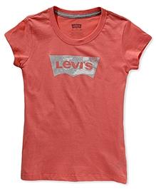 LEVIS Short Sleeves Batwing Screen Top - Peach