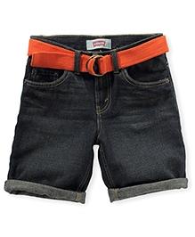 LEVIS Belted 5 Pocket Denim Shorts