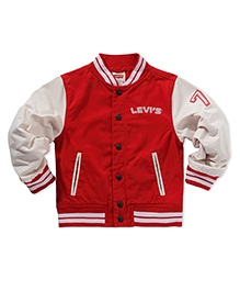 LEVIS Full Sleeves Campus Jacket - Red