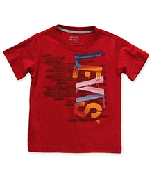 LEVIS Half Sleeves SS Brick Tee Red