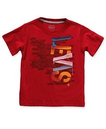 LEVIS Half Sleeves SS Brick Tee Red