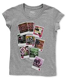 LEVIS Short Sleeves Polaroid Screen  Print T-Shirt - Grey