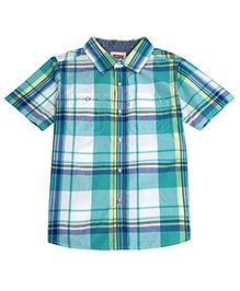 Levis Half Sleeves Castor Woven Shirt - Checks Pattern