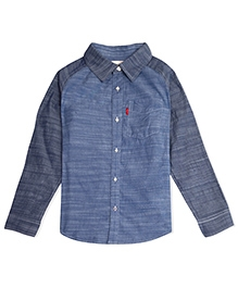 LEVIS Full Sleeves Kensington One Pocket Shirt - Blue
