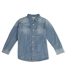 LEVIS Full Sleeves Classic Sawtooth Western Shirt - Light blue