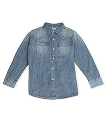 LEVIS Full Sleeves Classic Sawtooth Western Shirt - Light blue