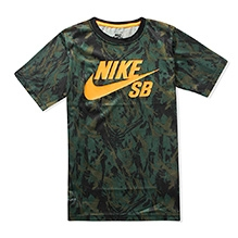Nike A/O Printed Half Sleeves T-Shirt - Green