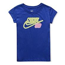 Nike Neon Sign Half Sleeves T-Shirt - Blue