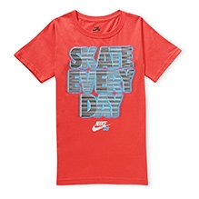 Nike Short Sleeves Skate Everyday Print T-Shirt - Red