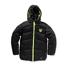 Nike Full Sleeves Angular Quilted Nylon Puffer Hooded Jacket - Black