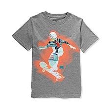 Nike Half Sleeves Ghost Skater Print T-Shirt - Grey