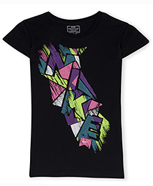 Nike Geo Etch S-ST Short Sleeves T-Shirt with Graphic Print - Black