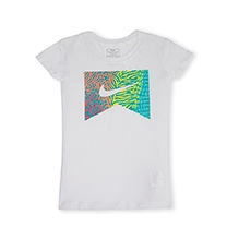 Nike Short Sleeves Top with Jungle Logo - White