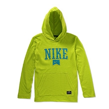Nike Pullover Performance Logo Hooded Sweatshirt - Green