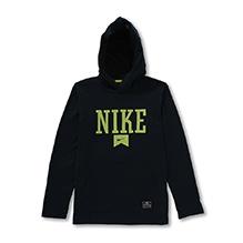 Nike Pullover Performance Logo Hooded Sweatshirt - Navy