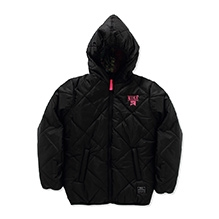 Nike Full Sleeves Quilted Puffer Hooded Jacket - Black