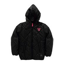 Nike Full Sleeves Quilted Puffer Hooded Jacket - Black