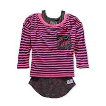 Nike SK8ER Girl 2-Fer Quarter Sleeves Top with Inner - Pink