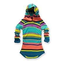 Nike Striped Waffle Tunic Hooded Jacket - Blue