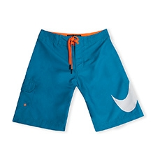 Nike Swoosh Shorts with Draw String - Blue