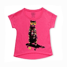 Nike The Perfect Ride Hi-Lo Short Sleeves Tee - Pink
