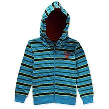 Nike Striped Jersey Hooded Jacked - Blue